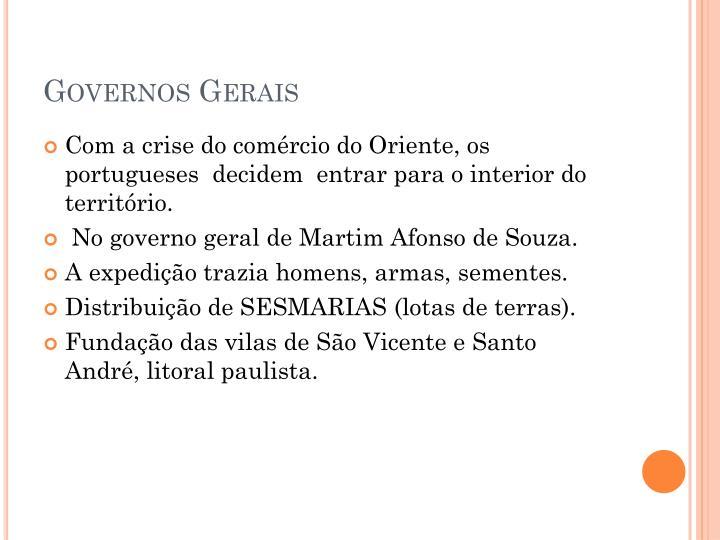 Governos Gerais