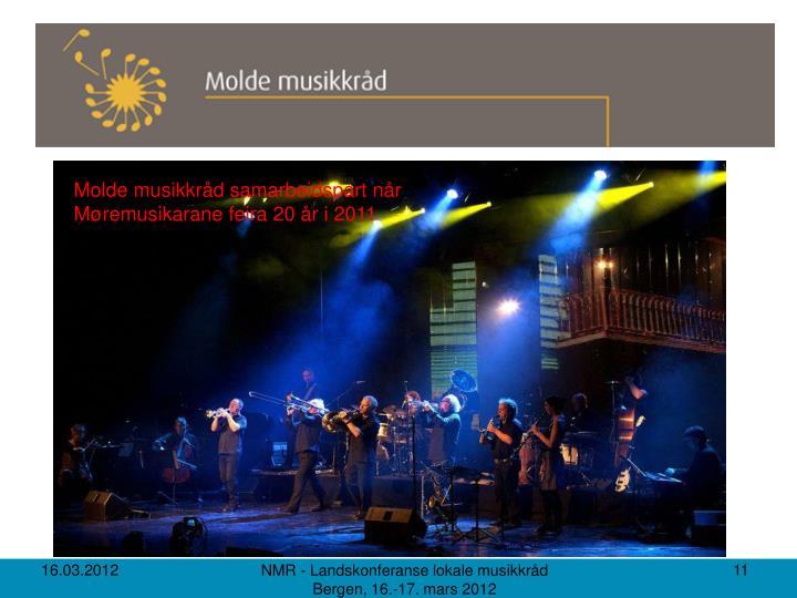 Molde musikkråd samarbeidspart når Møremusikarane feira 20 år i 2011