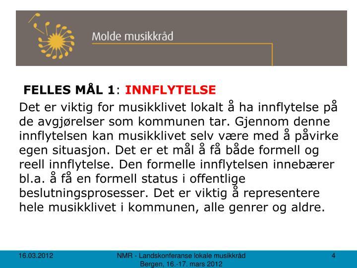 FELLES MÅL 1