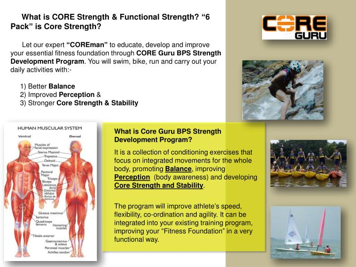 """What is CORE Strength & Functional Strength? """"6 Pack"""" is Core Strength?"""