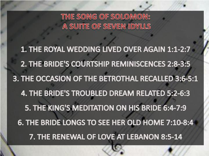 THE SONG OF SOLOMON: