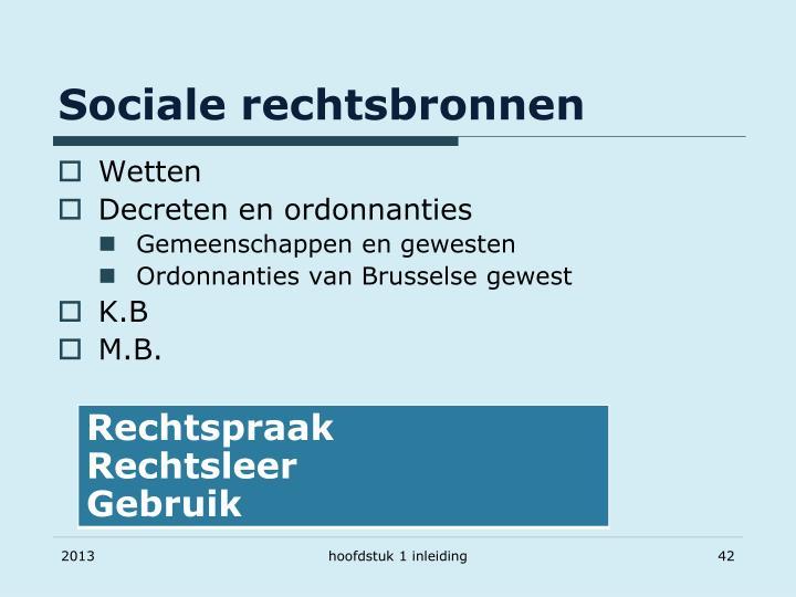 Sociale rechtsbronnen