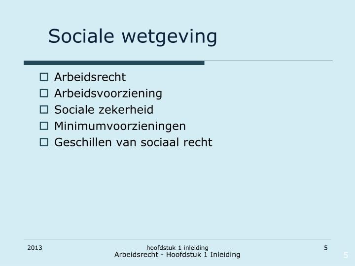 Sociale wetgeving