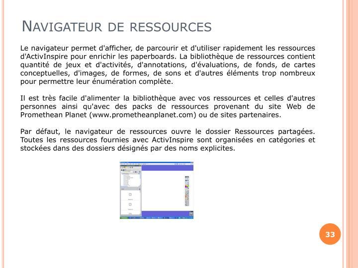 Navigateur de ressources