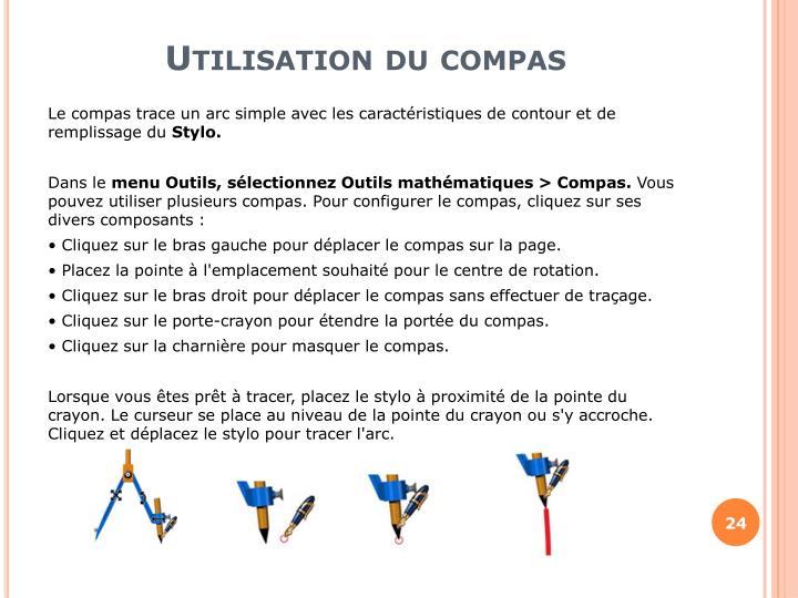 Utilisation du compas