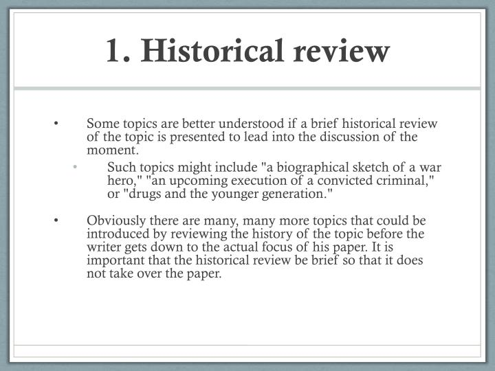 1. Historical review