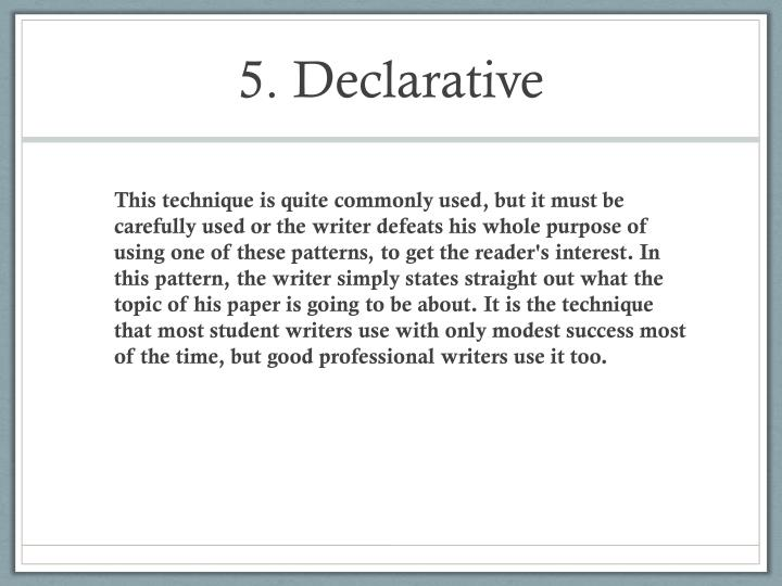 5. Declarative