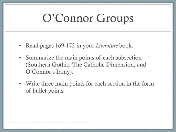 O'Connor Groups