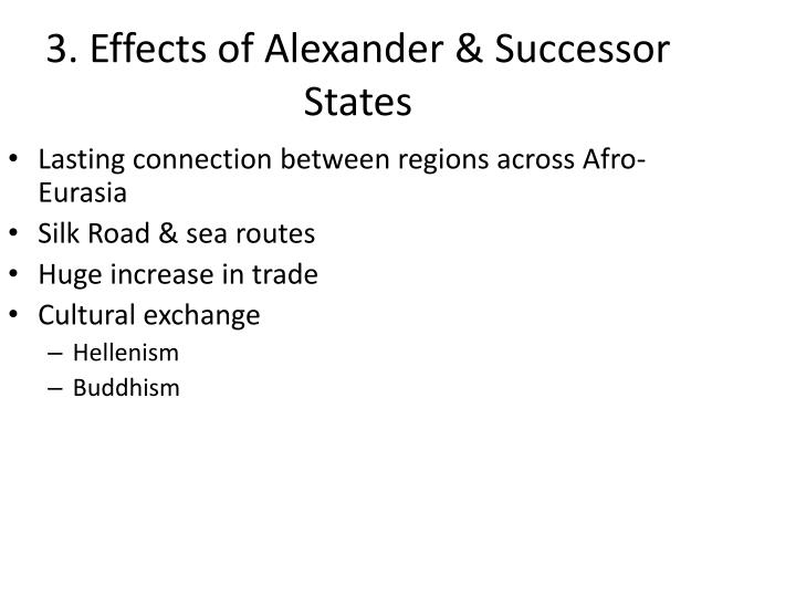 3. Effects of Alexander & Successor States