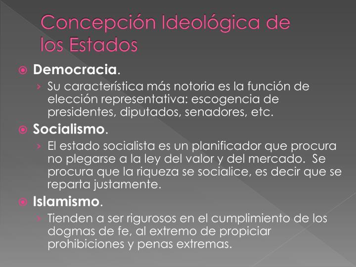 Concepción Ideológica de los Estados