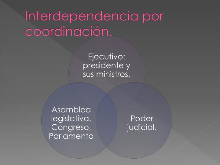 Interdependencia por coordinación.