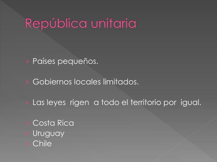 República unitaria