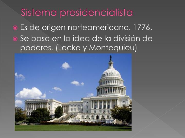 Sistema presidencialista