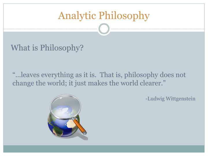 Analytic Philosophy