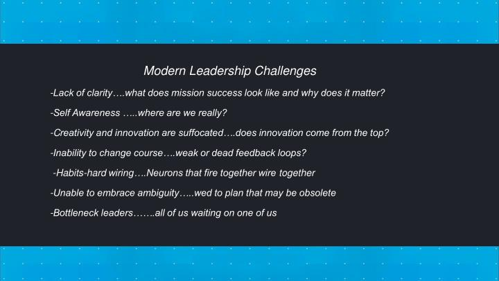 Modern Leadership Challenges