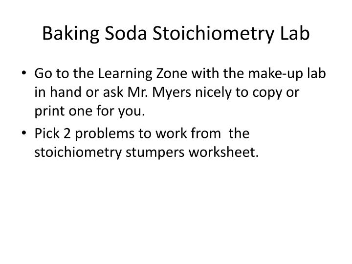 Baking soda stoichiometry lab