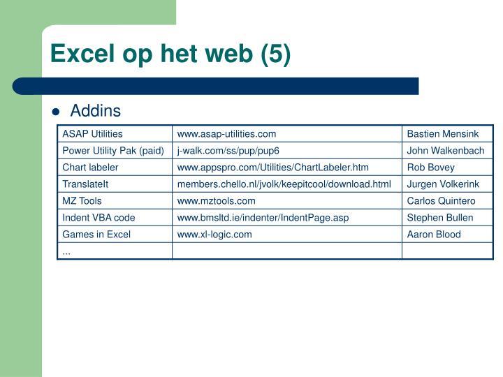 Excel op het web (5)
