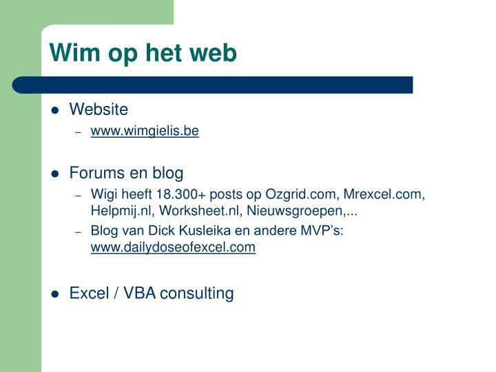 Wim op het web