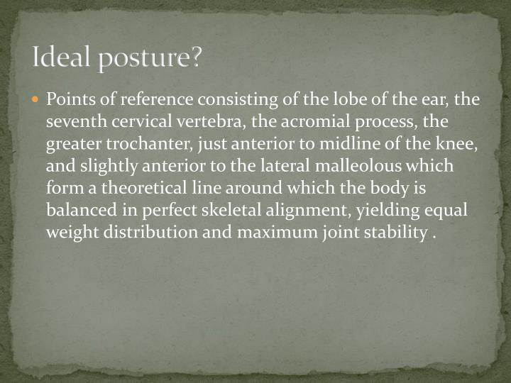 Ideal posture?