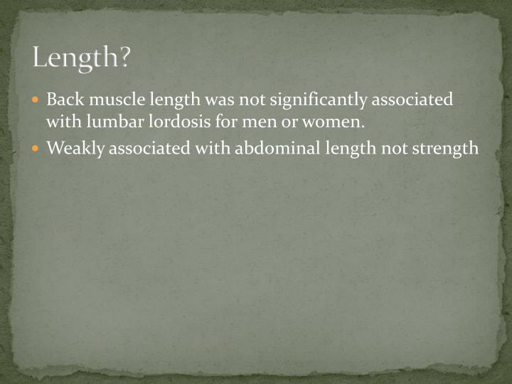 Length?