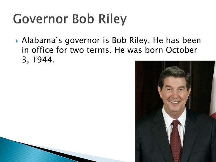 Governor Bob Riley