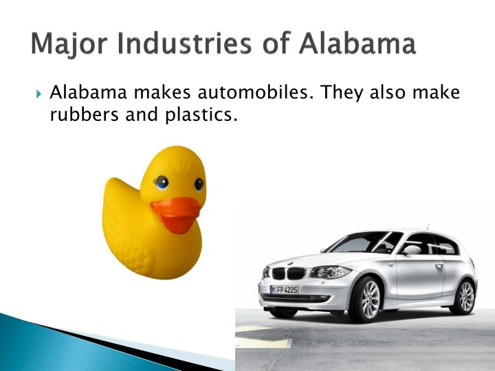 Major Industries of Alabama