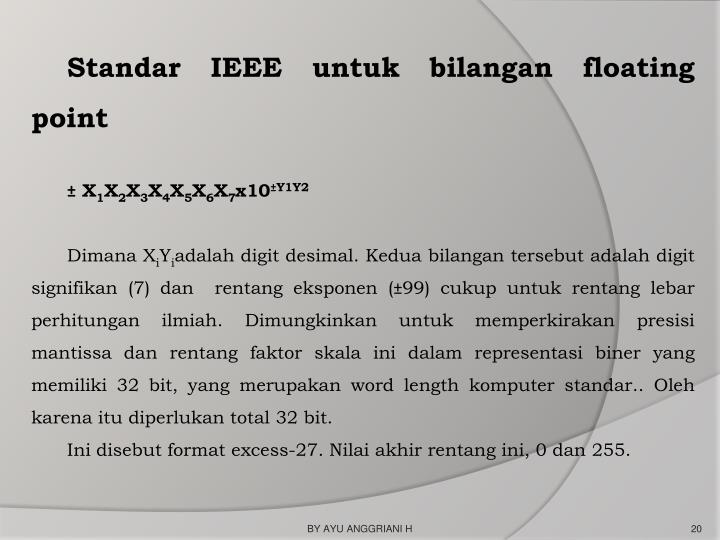 Standar IEEE untuk bilangan floating point