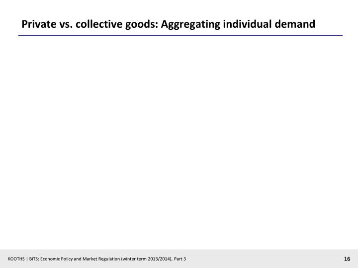 Private vs. collective goods: Aggregating individual