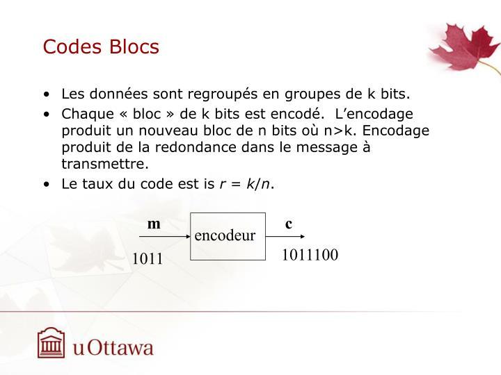 Codes Blocs