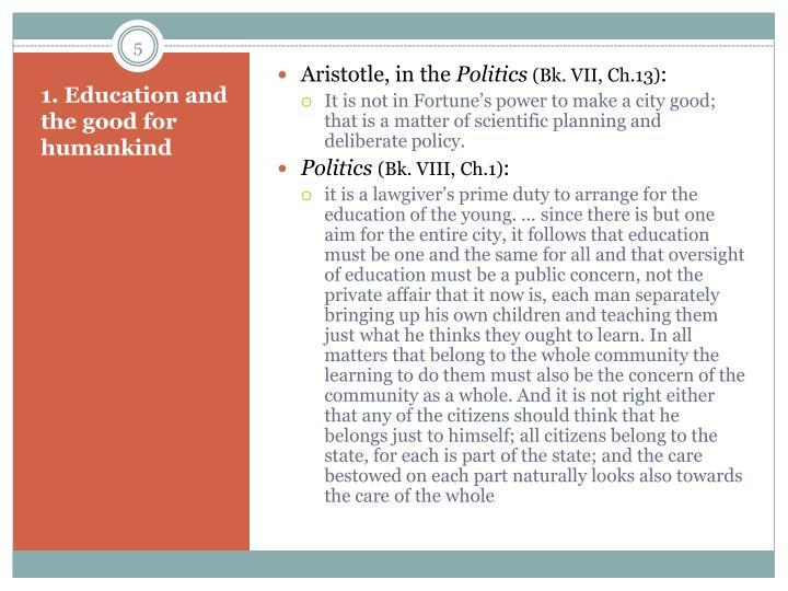 Aristotle, in the