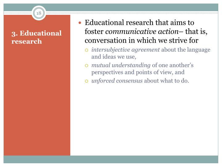 Educational research that aims to foster