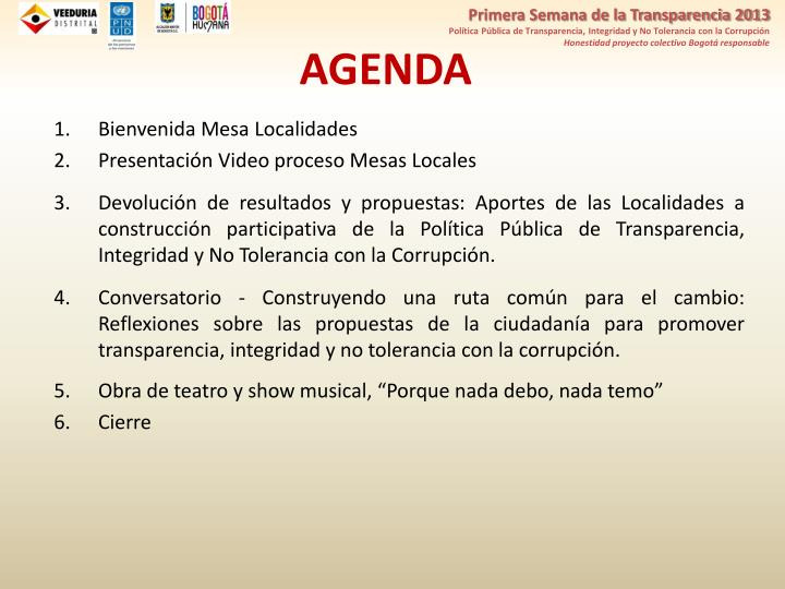 Primera Semana de la Transparencia 2013