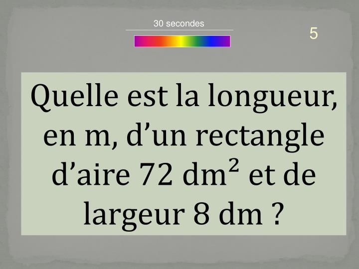 30 secondes
