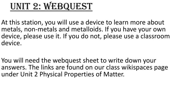 Unit 2 webquest