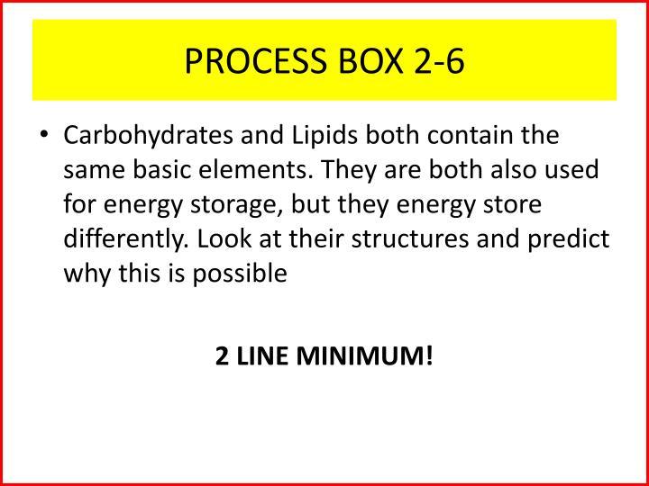 PROCESS BOX 2-6