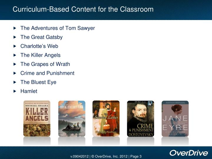 Curriculum-Based Content for the Classroom