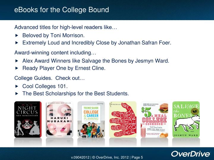 eBooks for the College Bound
