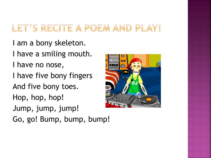 Let's recite a poem and play!