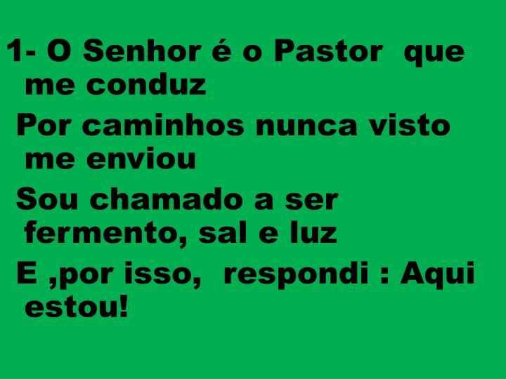 1- O Senhor é o Pastor  que  me conduz