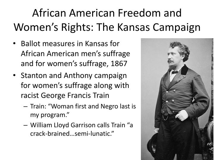 African American Freedom and Women's Rights: The Kansas Campaign