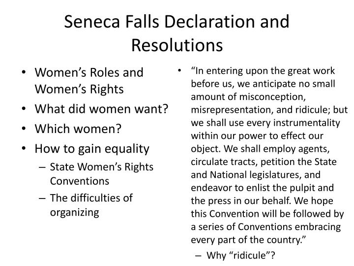 Seneca Falls Declaration and Resolutions