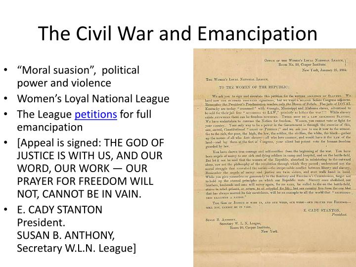 The Civil War and Emancipation