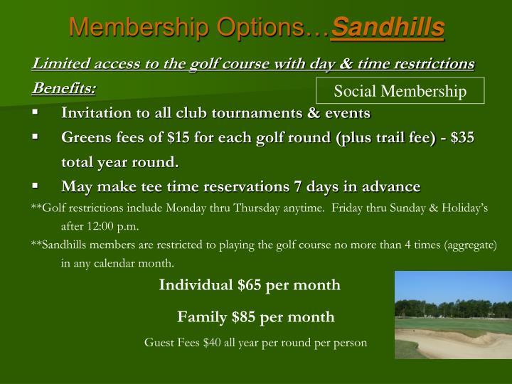 Membership Options…