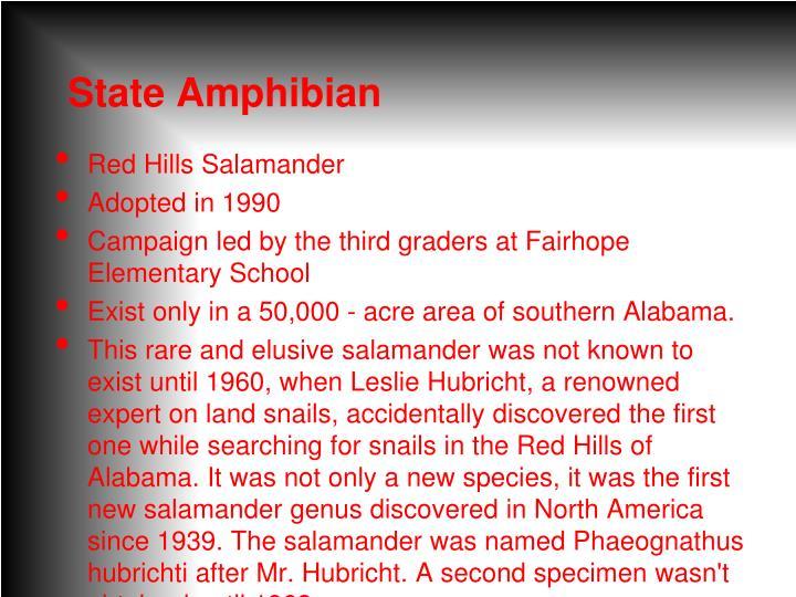 State Amphibian