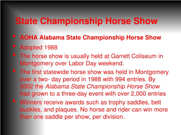 State Championship Horse Show