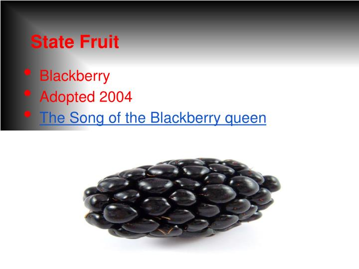 State Fruit
