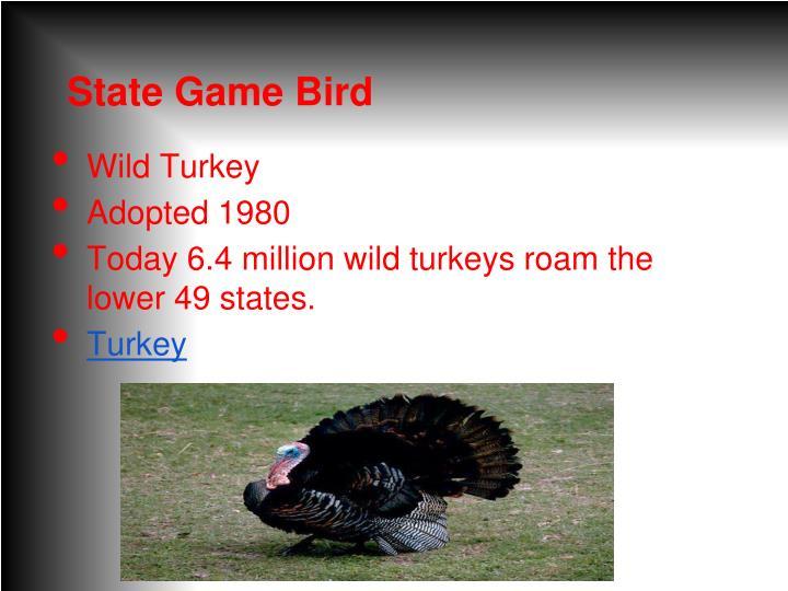 State Game Bird