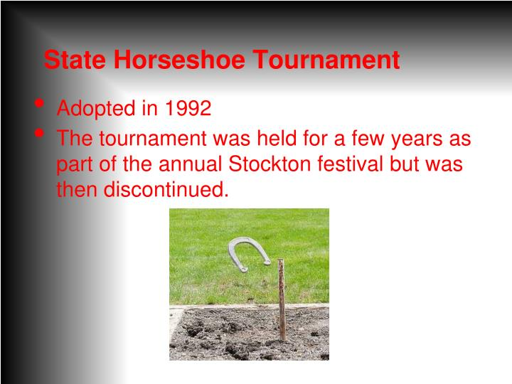 State Horseshoe Tournament