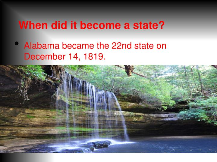 When did it become a state?