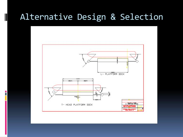 Alternative Design & Selection